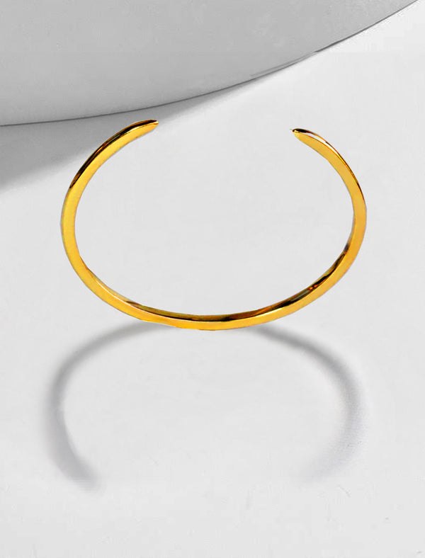 SUCCESS 2-WAY ADJUSTABLE CUFF 18K GOLD VERMEIL BRACELET