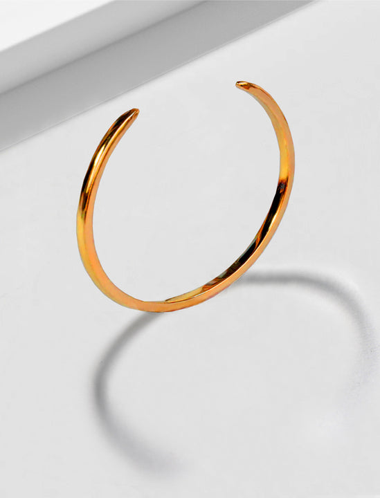 Success 18K Rose Gold Vermeil Thin Cuff Bangle Bracelet by Sonia Hou Jewelry