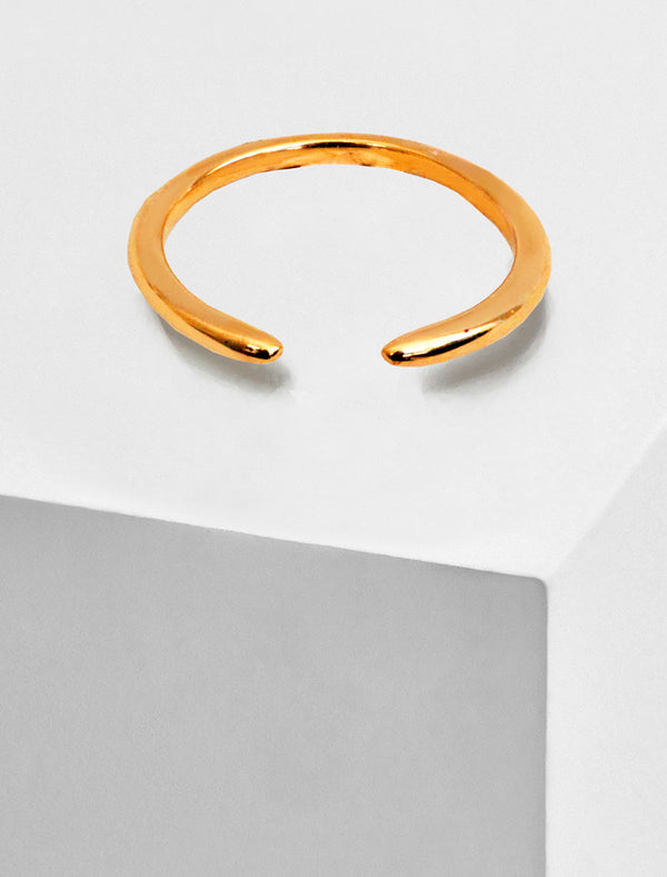 SUCCESS 18K ROSE GOLD VERMEIL STACKING RING