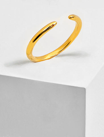 SUCCESS 18K GOLD VERMEIL STACKING RING