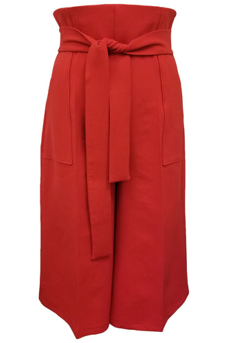 Flow by Tara Davis High Waist Red Gaucho Crop Pants - Flow by Tara Davis
