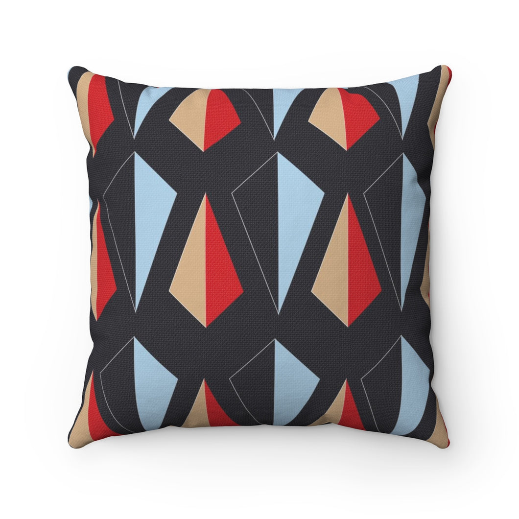 Flow by Tara Davis Geo Kite Black Pillow - Flow by Tara Davis