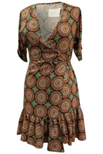 Flow by Tara Davis Medallion Print Short Ruffle Wrap Dress - Flow by Tara Davis