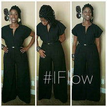 Flow by Tara Davis Suiting Twill Cap Sleeve Jumpsuit - Flow by Tara Davis