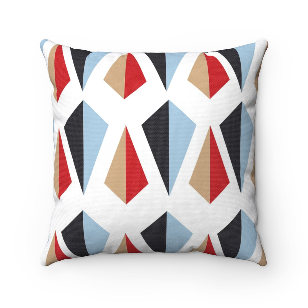 Flow by Tara Davis Geo Kite White Pillow - Flow by Tara Davis