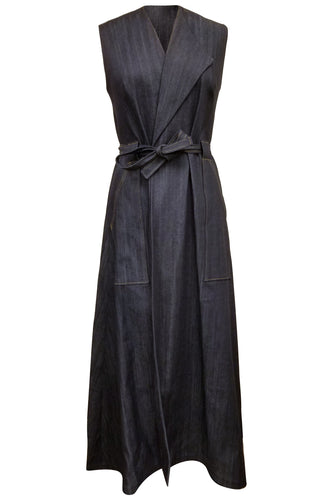 Flow by Tara Davis Denim Long Duster/Wrap Dress - Flow by Tara Davis