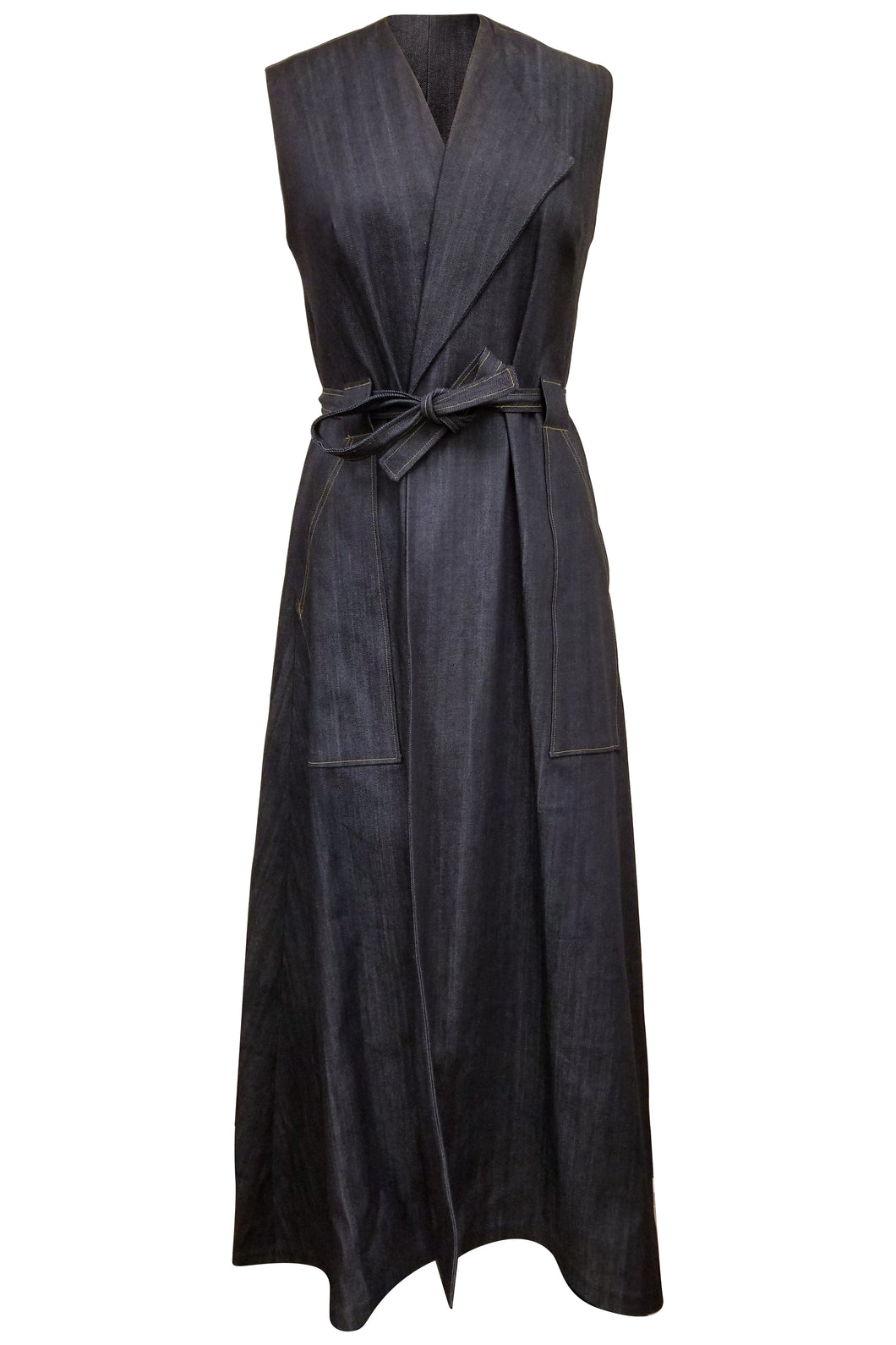 Flow by Tara Davis Denim Long Duster/Wrap Dress