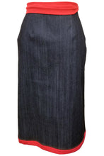 Flow by Tara Davis Patch Pocket Denim Wrap Pencil Skirt - Flow by Tara Davis