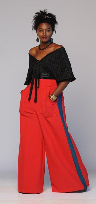 Flow by Tara Davis High-Waist Tuxedo Wide-leg Pants - Flow by Tara Davis