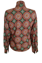 Flow by Tara Davis Medallion Print Bow Blouse