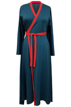 Flow by Tara Davis Teal Red Knit Wrap Maxi Dress - Flow by Tara Davis