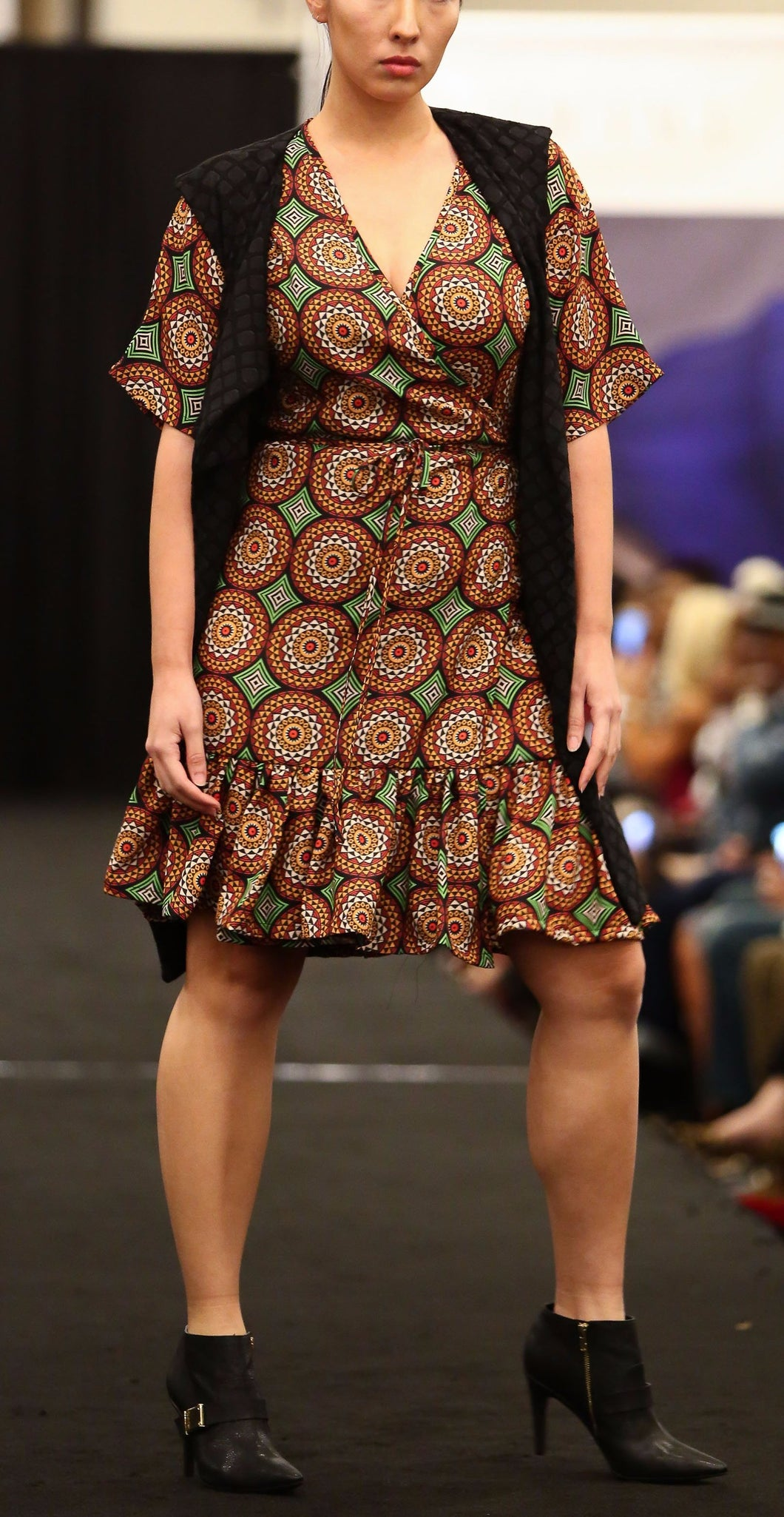 flow by tara davis medallion print wrap dress