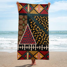Flow by Tara Davis Tribal Beach Towel - Flow by Tara Davis