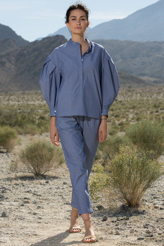 BAUDELAIRE TOP - CHAMBRAY