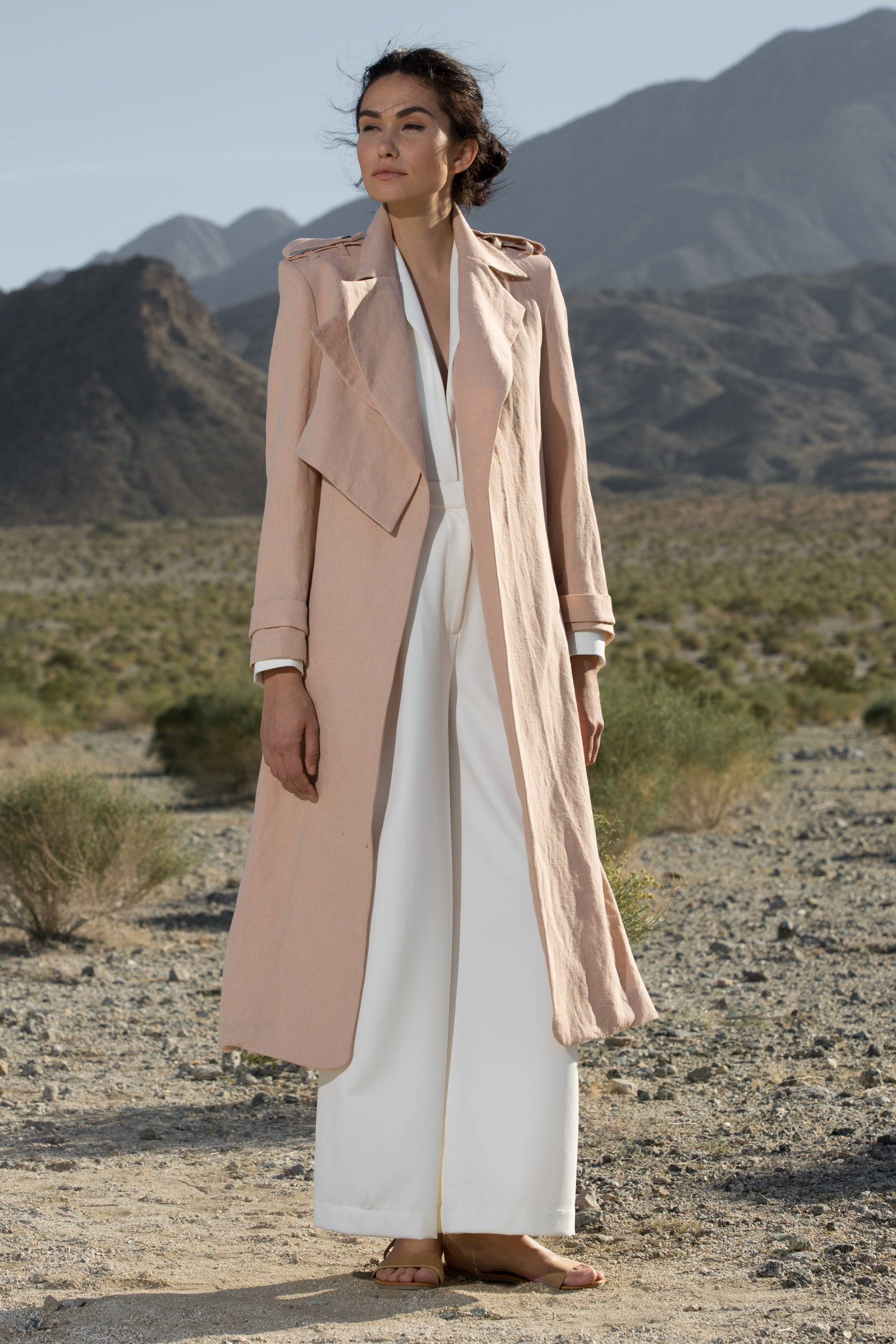 ELPHAIS TRENCH COAT - PETAL