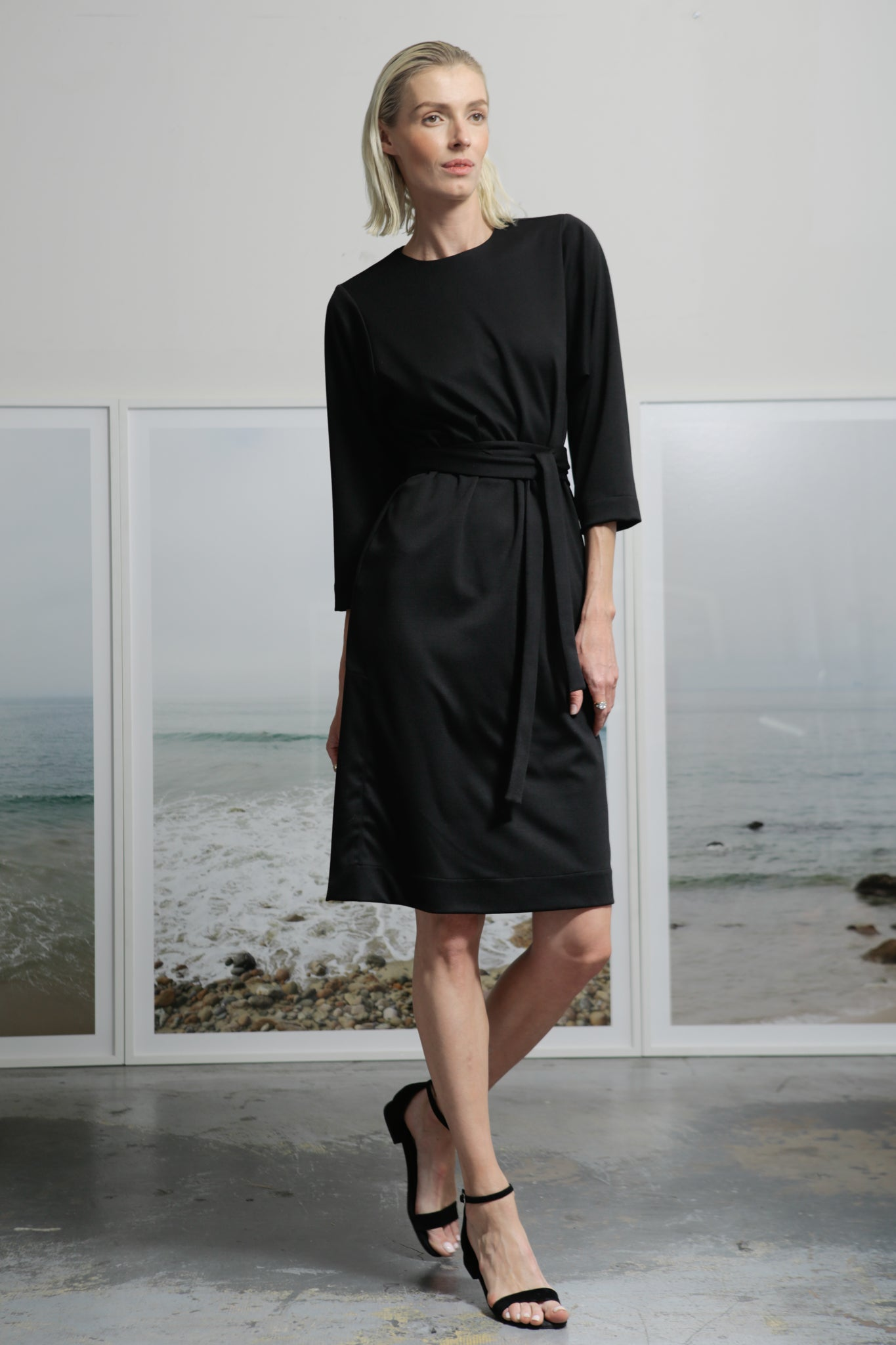 SPIAGGIA DRESS - BLACK PONTI