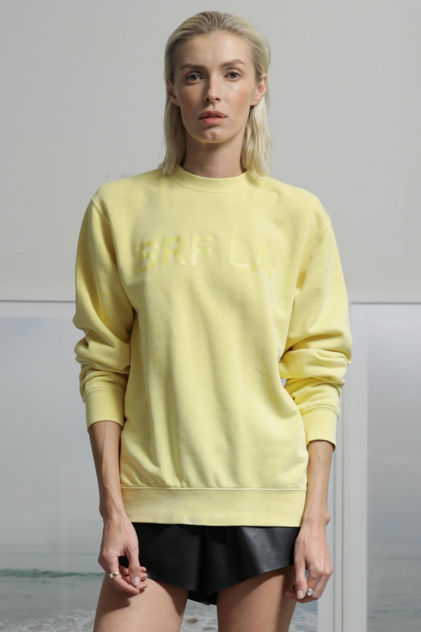 SRF LA CREWNECK - YELLOW