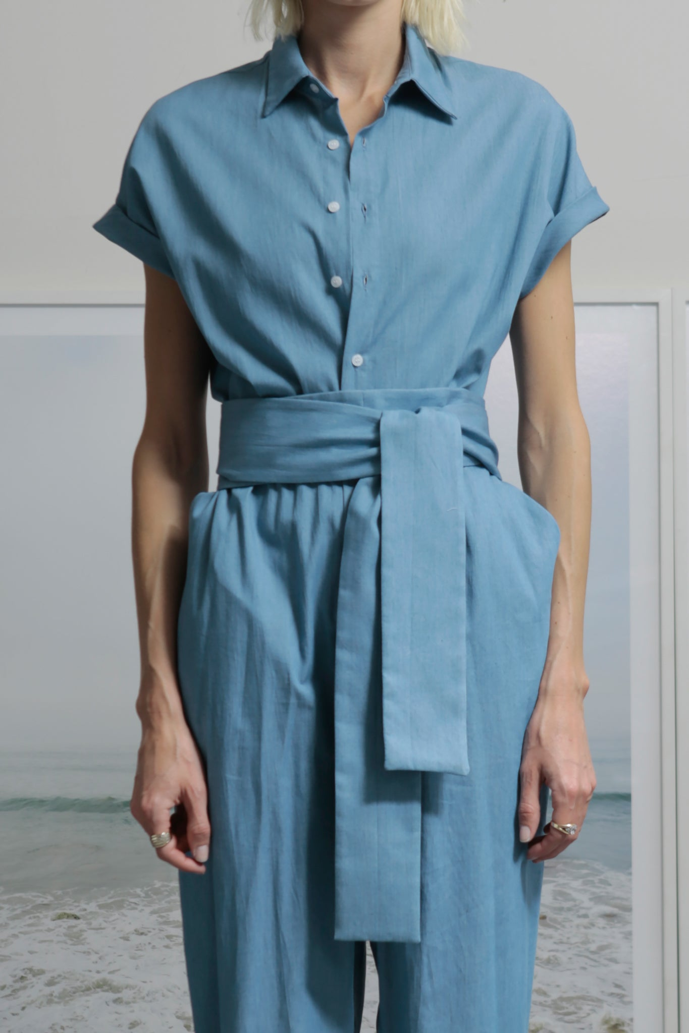 VERONA JUMPSUIT - LIGHT CHAMBRAY