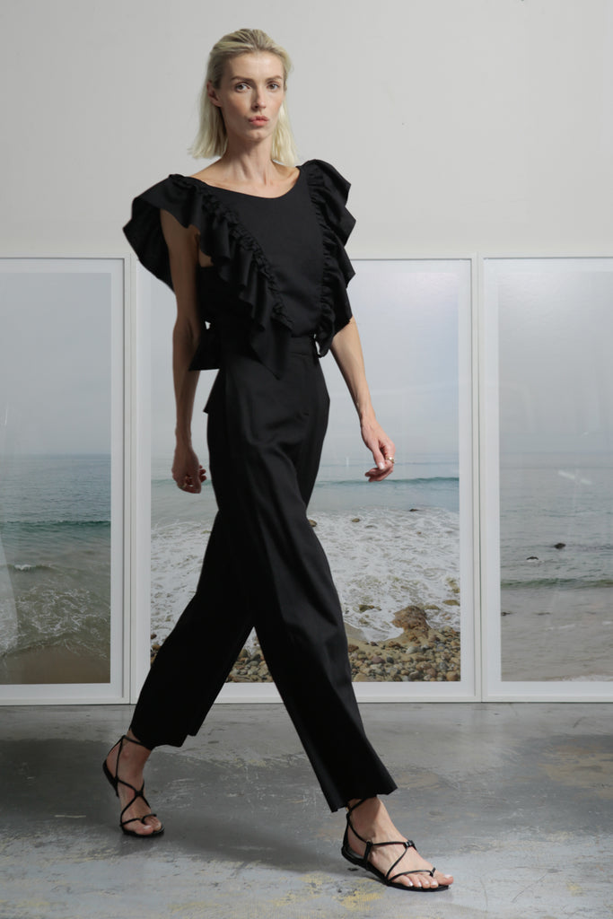 FARFALLA TOP - BLACK - SOLD OUT