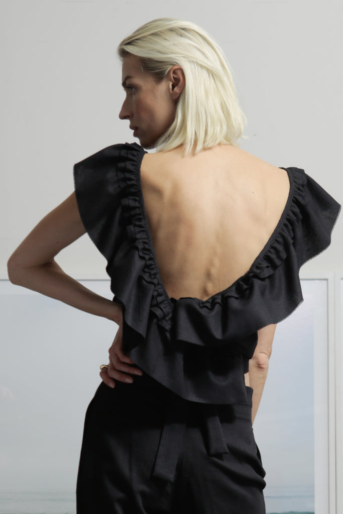 FARFALLA TOP - BLACK