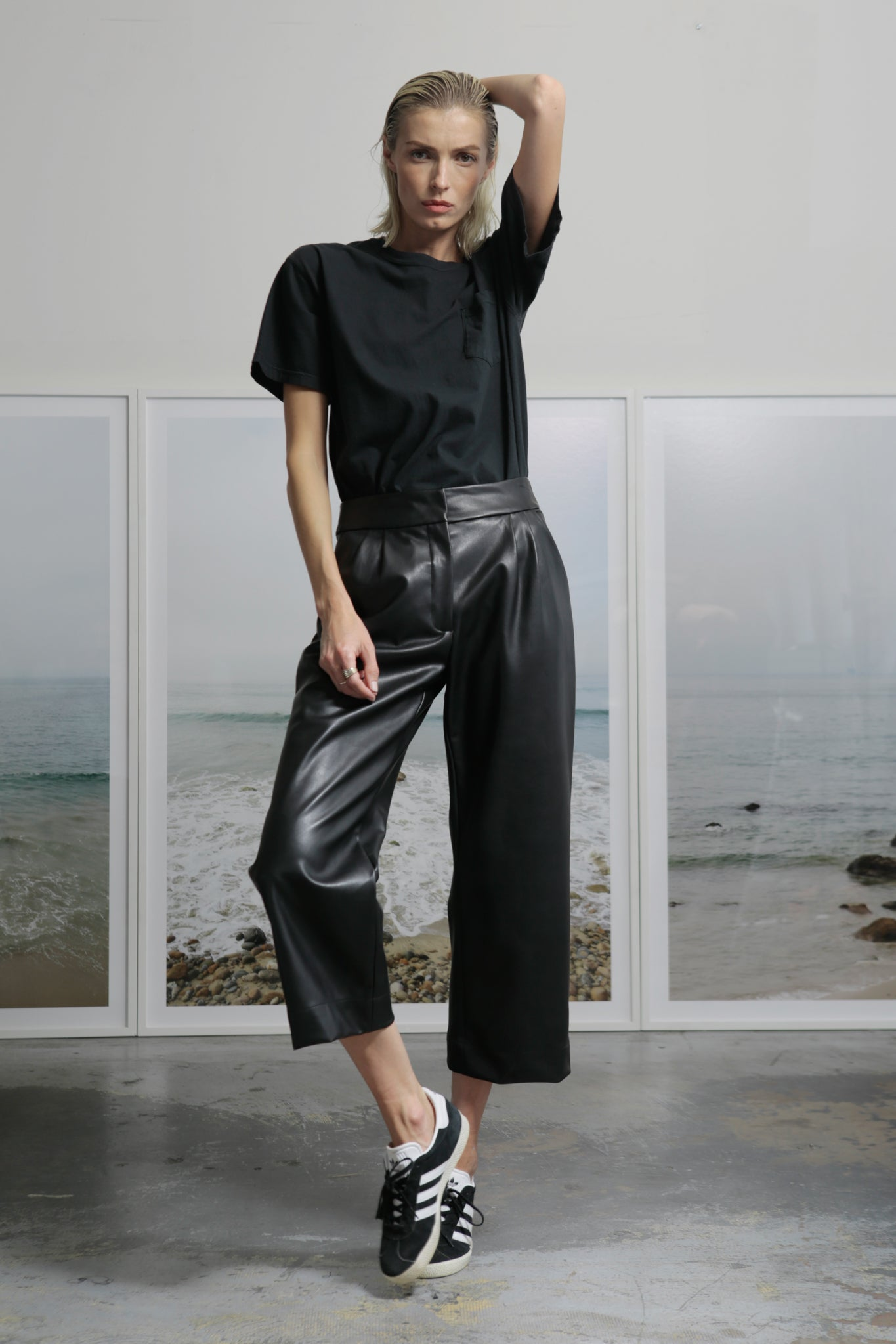 ROSSELLINI PANTS - VEGAN LEATHER