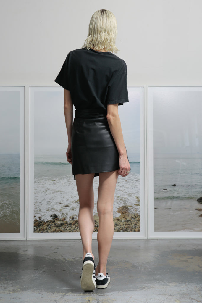VIGNETO SKIRT - VEGAN LEATHER