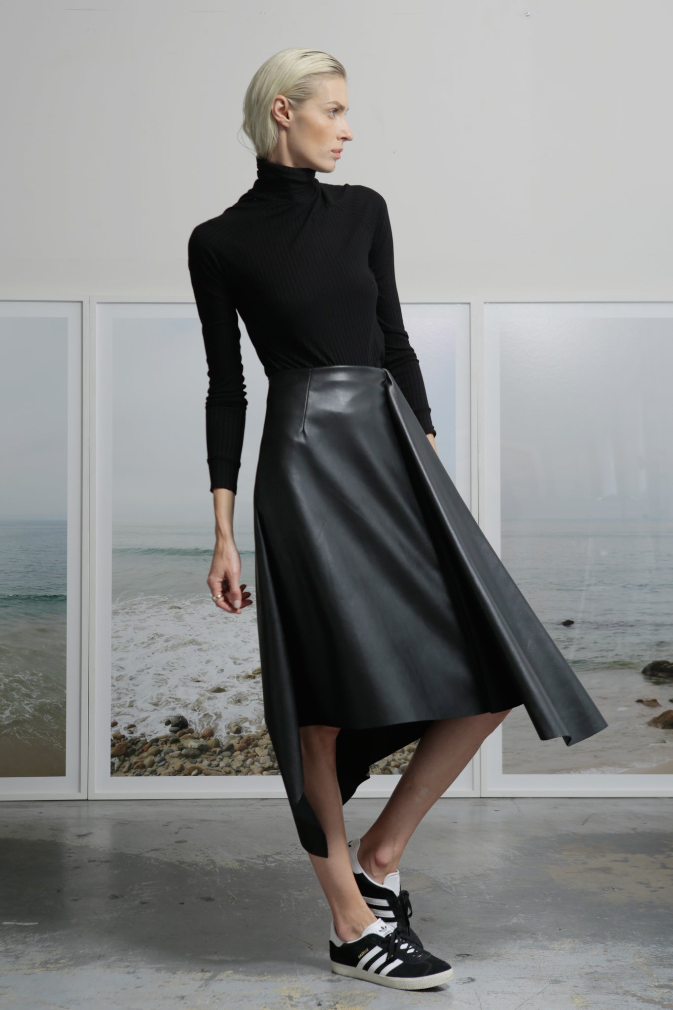 JOSEPHINE SKIRT - VEGAN LEATHER