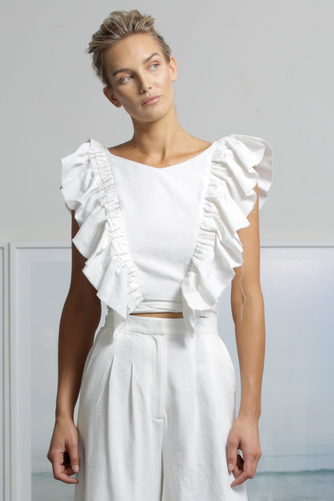 FARFALLA TOP - WHITE