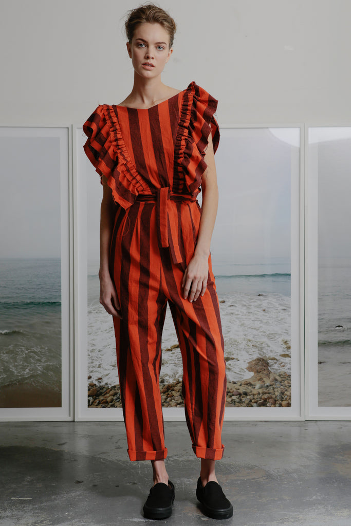 LE PAPILLON JUMPSUIT - FIRE STRIPE