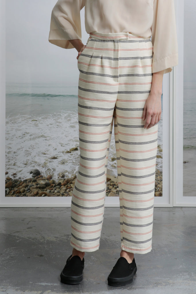 KAOLIN TROUSER - IVORY STRIPE - SIZES 2/4/6