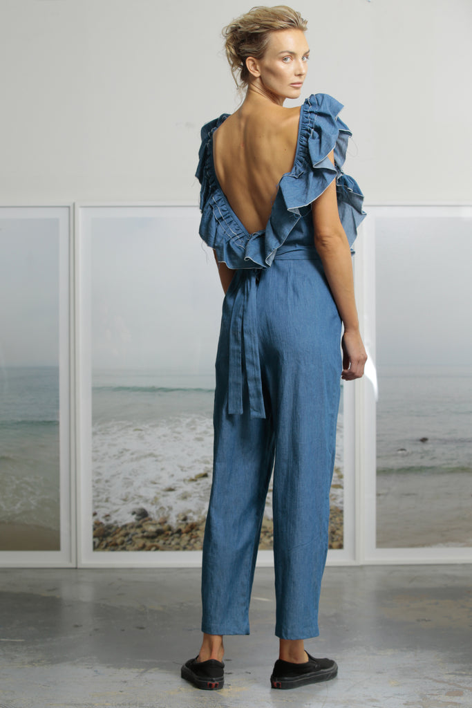 LE PAPILLON JUMPSUIT - DARK CHAMBRAY