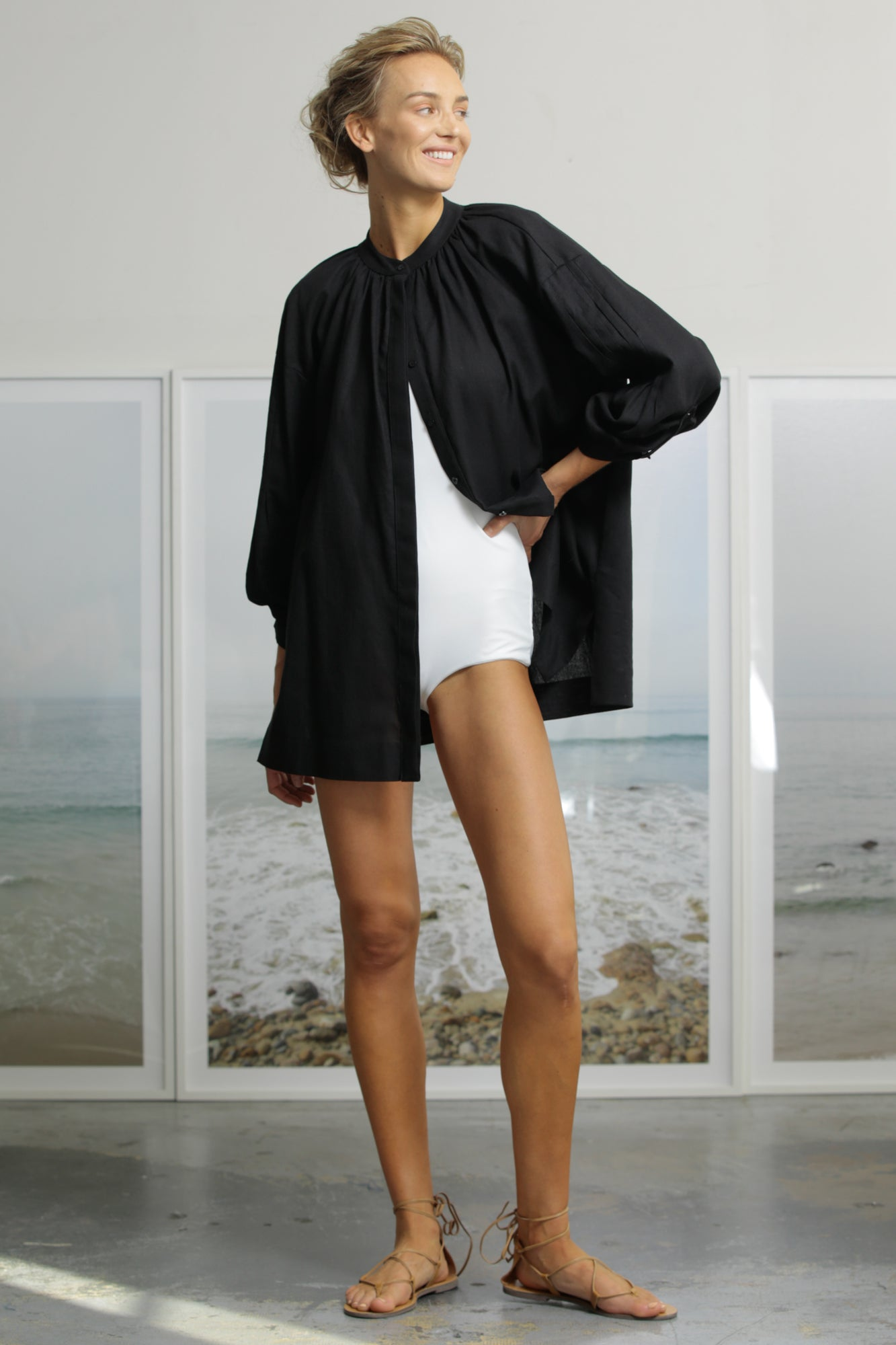 PLAGE COVERUP - BLACK