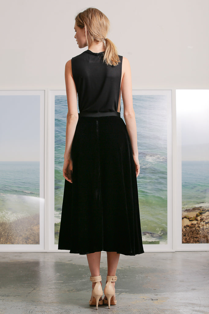 APOLLO SKIRT - BLACK VELVET