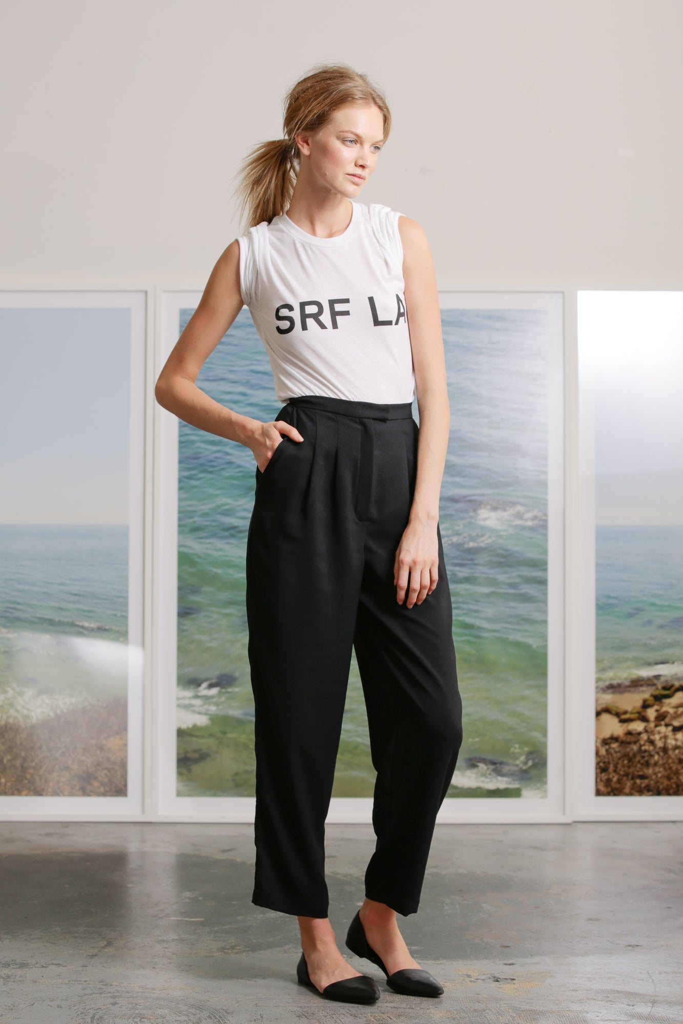 KAOLIN TROUSER - BLACK SILK