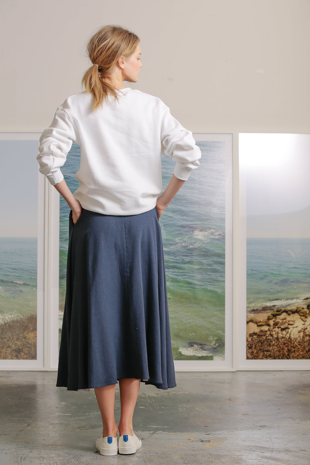 APOLLO SKIRT - BLUE