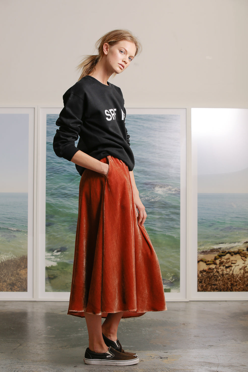 APOLLO SKIRT - ROSE VELVET