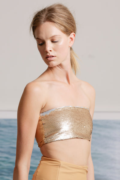 SIRENA TOP - SAND/GOLD