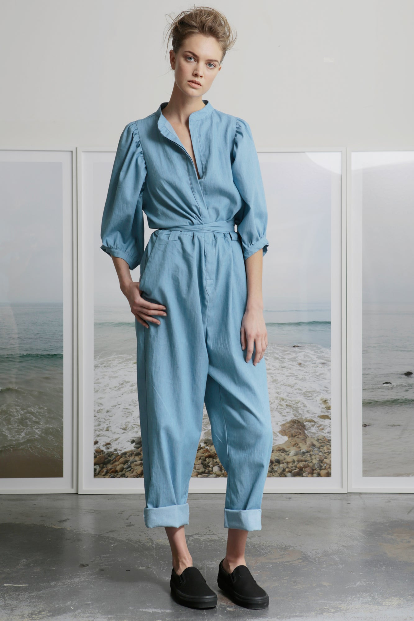 OLIVIA JUMPSUIT - LIGHT CHAMBRAY