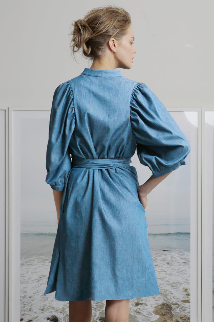MASON PETITE DRESS - LIGHT CHAMBRAY