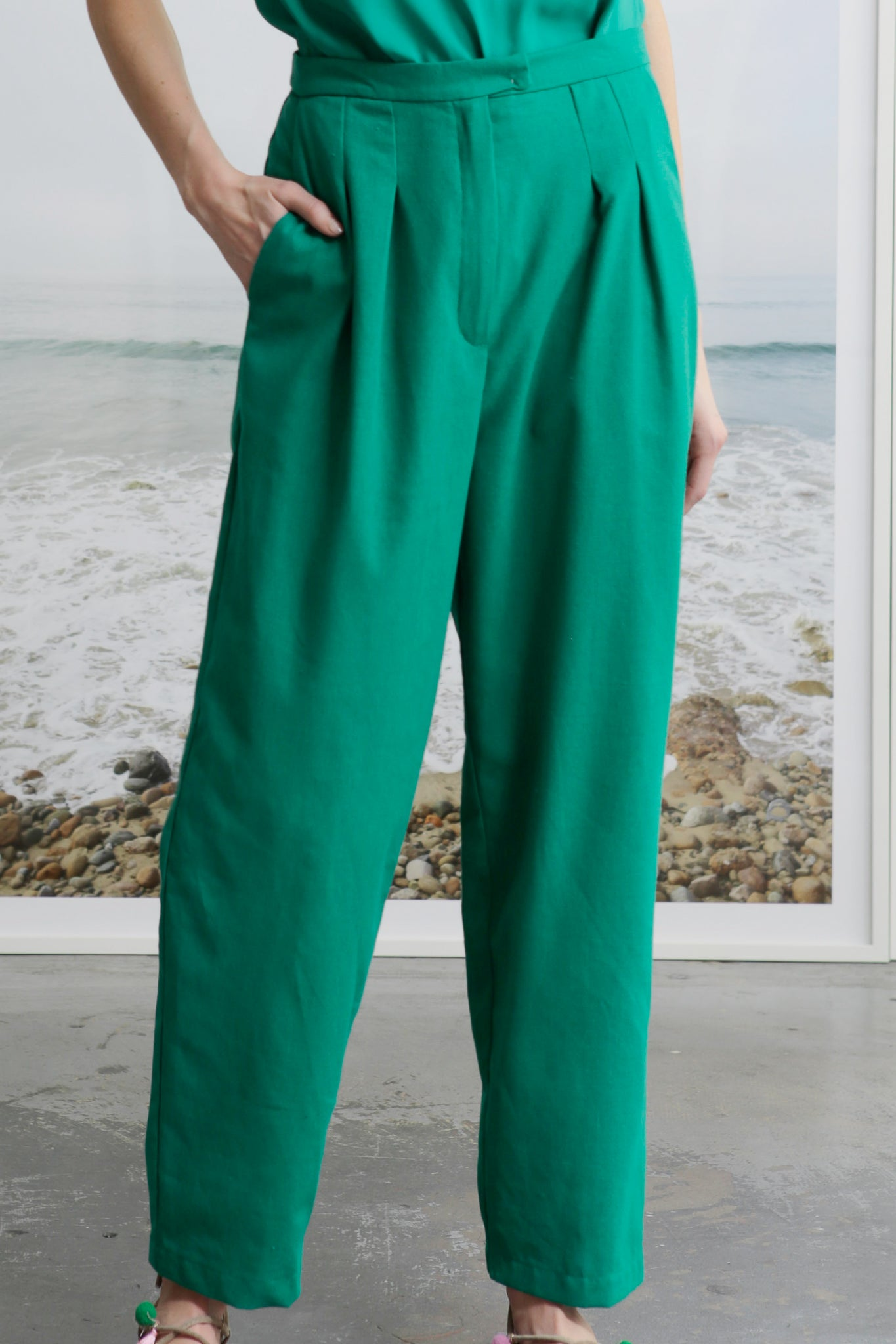 KAOLIN TROUSER - GREEN
