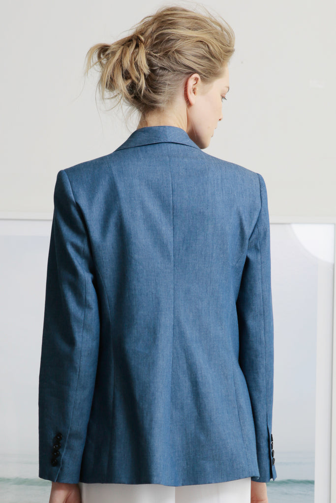 ILE BLAZER - DARK CHAMBRAY