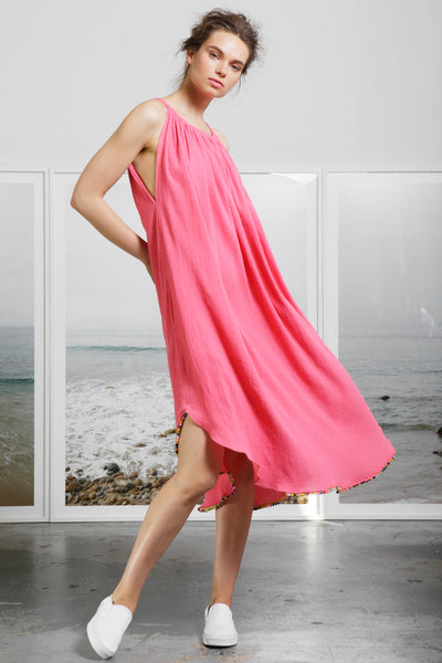 MANTLE DRESS - CORAL