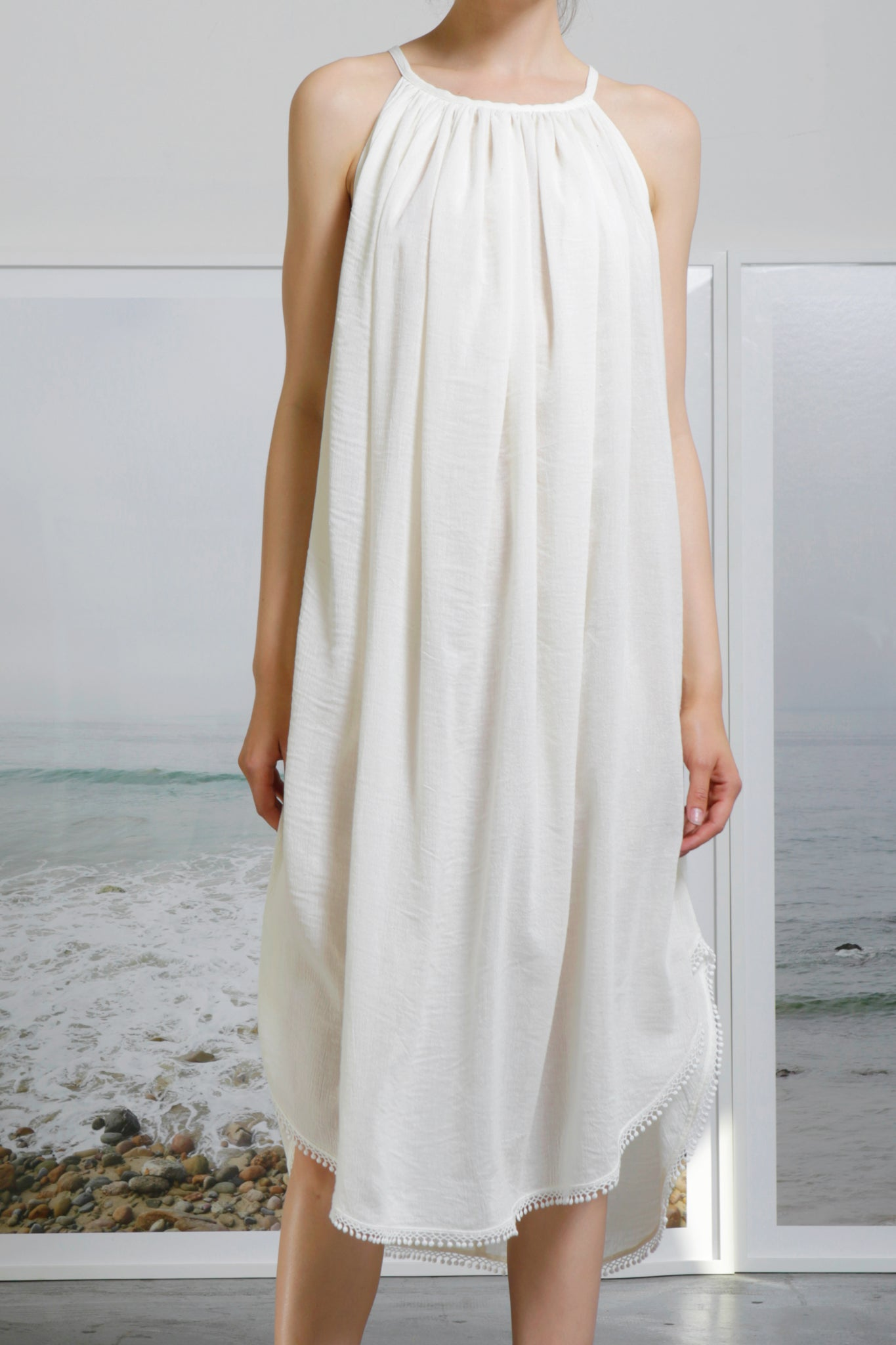 MANTLE DRESS - IVORY