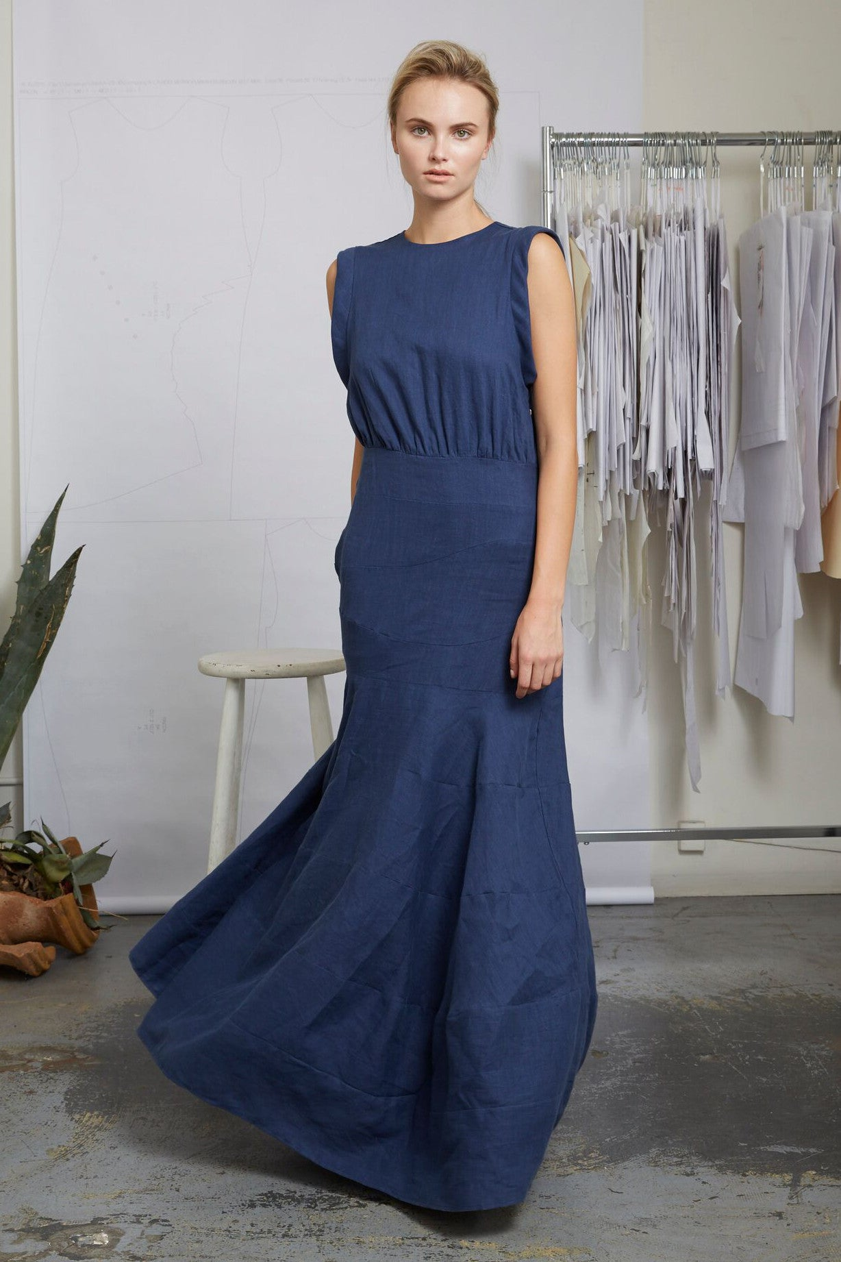 WINDHILL GOWN - BLUE