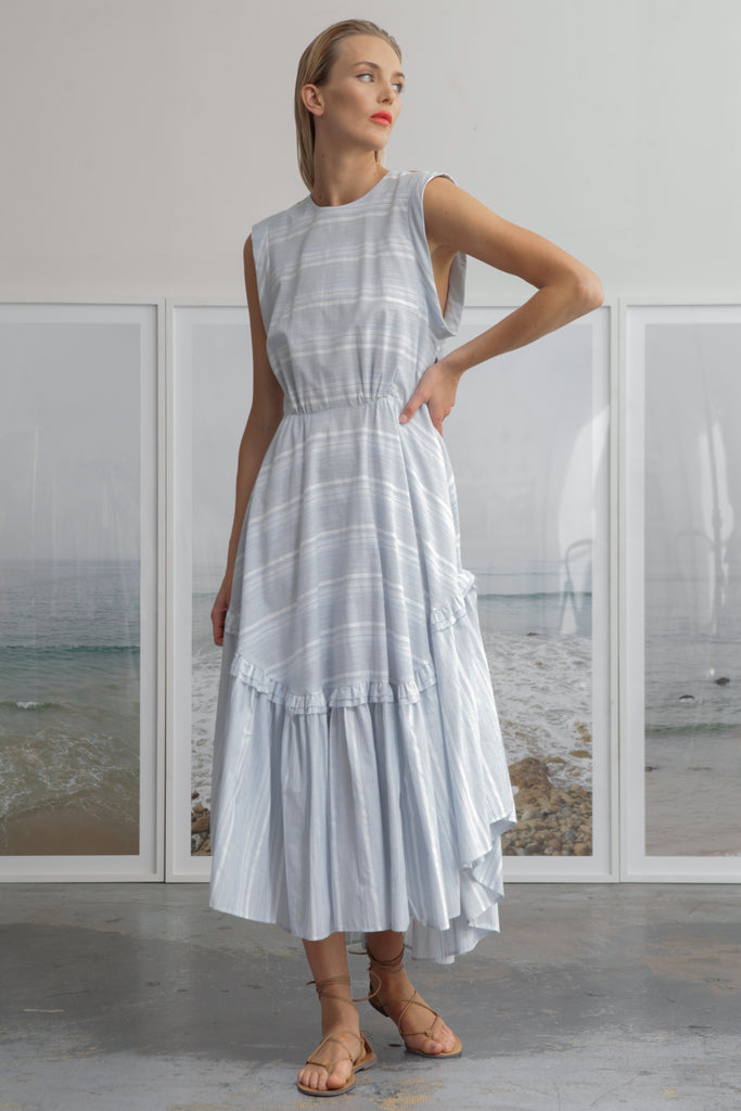 SAN SIMEON DRESS - BLUE STRIPE