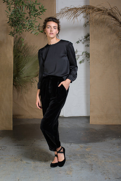 KAOLIN TROUSER - BLACK VELVET