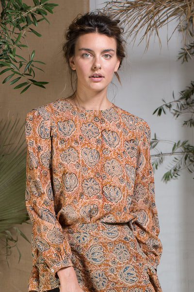 TOILE TOP - AUTUMN PAISLEY