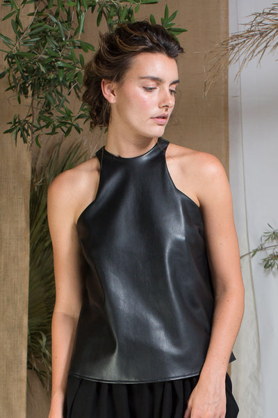 RENE TOP - LEATHER