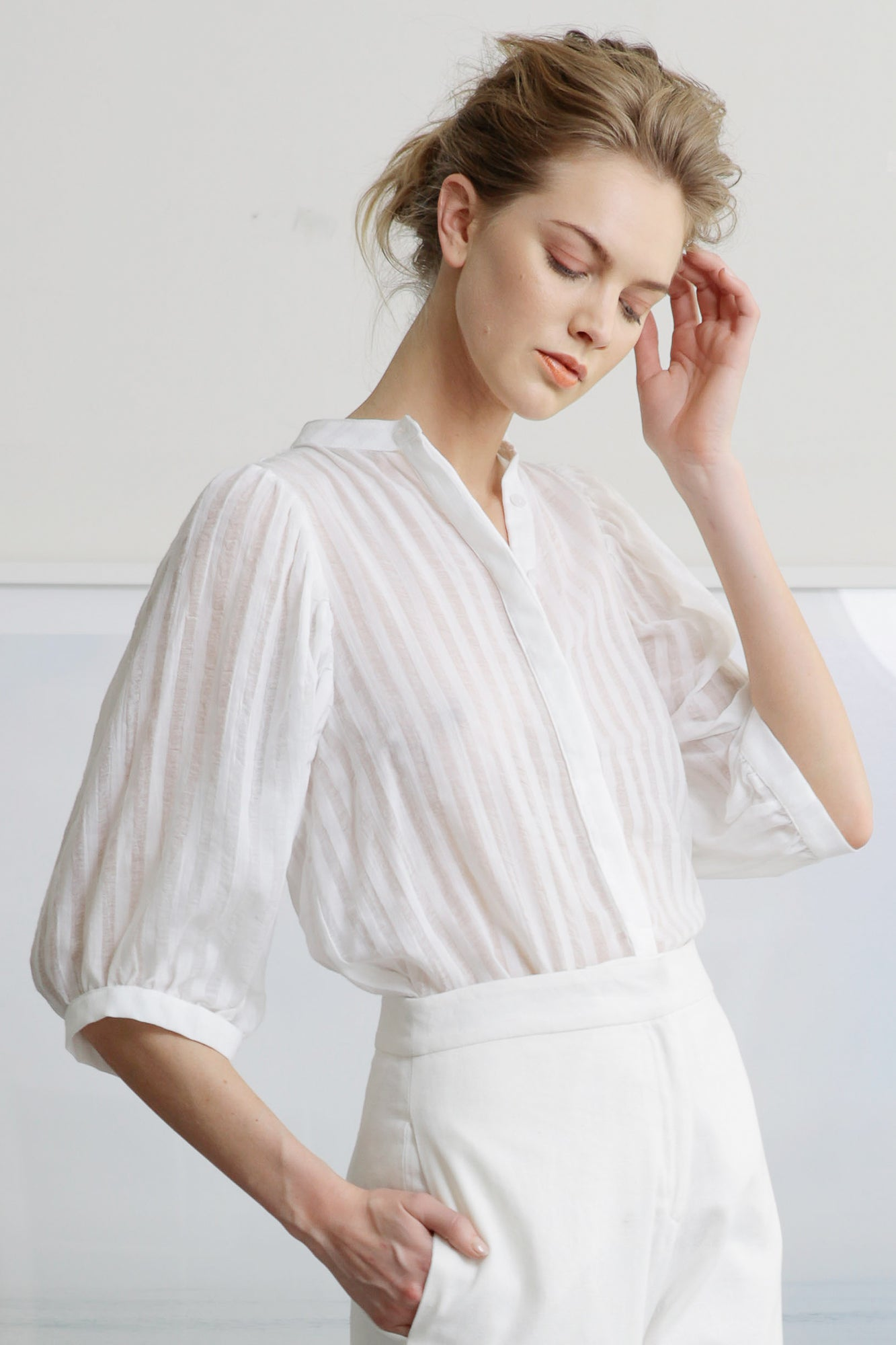 CERES TOP - COTTON STRIPE