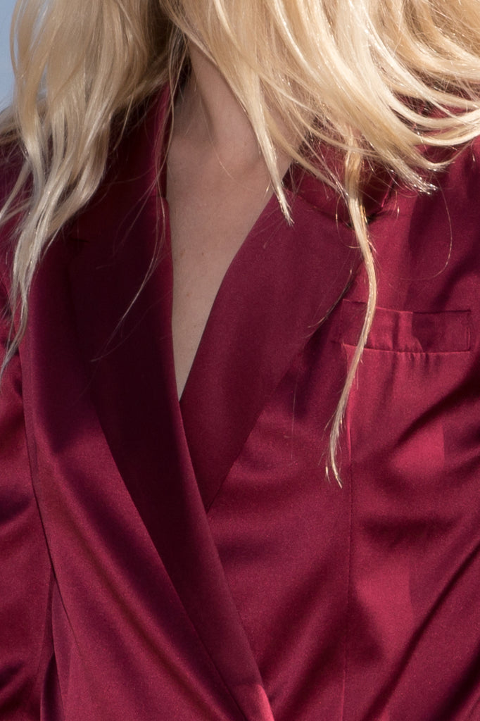 BLAZER DRESS - CRIMSON
